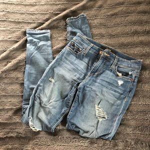 Joe's Jeans Jeans - Joe's Jeans Blue Ripped Skinny Jeans